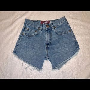 Levi's Vintage Style High Waisted Cut Off Shorts